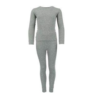NEW! Waffle Thermal Boys Gray Long Underwear Set